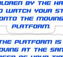 Spaceship Earth Boarding Narration  Sticker