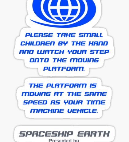 Spaceship Earth Boarding Narration  Sticker