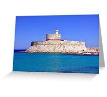 Fort Saint Nicholas, Rhodes, Greece. Greeting Card