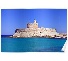 Fort Saint Nicholas, Rhodes, Greece. Poster