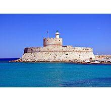 Fort Saint Nicholas, Rhodes, Greece. Photographic Print