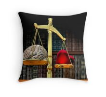 Tipping The Scales Throw Pillow
