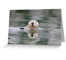 Reflection of an Otter Greeting Card