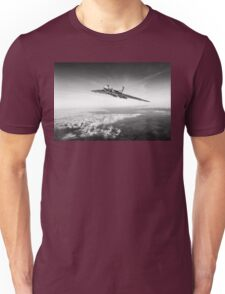 Vulcan in flight, black and white version Unisex T-Shirt