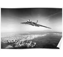Vulcan in flight, black and white version Poster