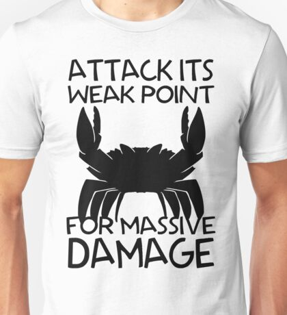 GIANT ENEMY CRAB -black- Unisex T-Shirt
