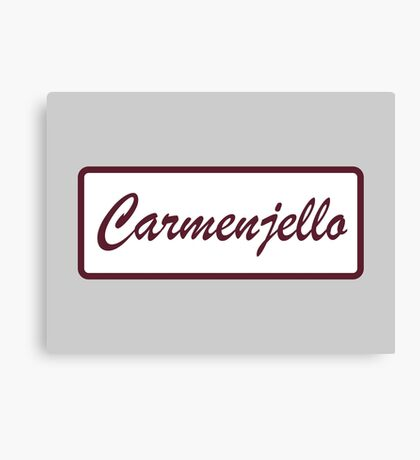 Carmenjello shirt – The League Canvas Print