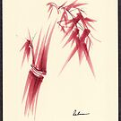 &quot;Delicate&quot; - Original Huntington Gardens Plein Air Drawing by Rebecca Rees