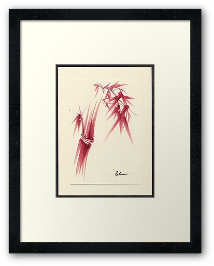 """Delicate"" - Original Huntington Gardens Plein Air Drawing by Rebecca Rees"