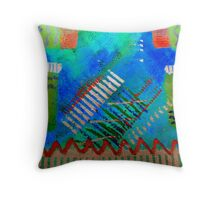 Psychedelic Pianos Throw Pillow