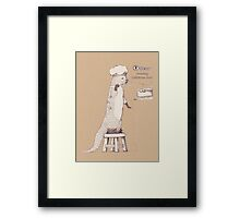 Creating delicious food - Otter-Burlywood Framed Print
