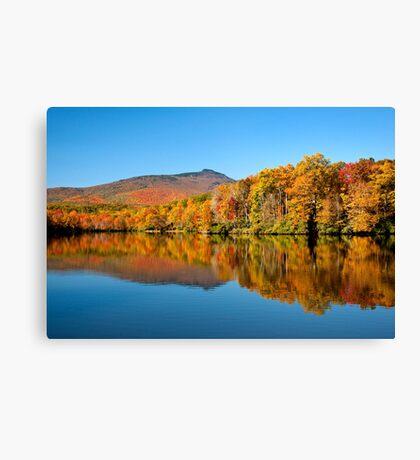 Autumn on Julian Price Lake Canvas Print