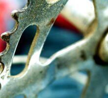 Junked Bicycle Sprocket Sticker