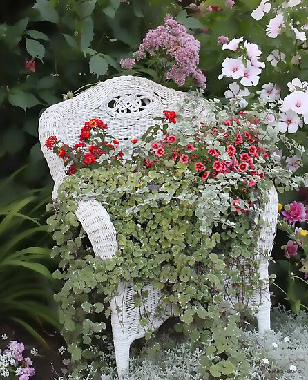 Andrea's Garden Chair by Sandra Foster