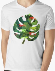 Jungle Camouflage Mens V-Neck T-Shirt