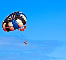 Parasailing under blue sky. by FER737NG