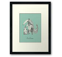 Beginning on your journey - Giant Anteater - Green Framed Print