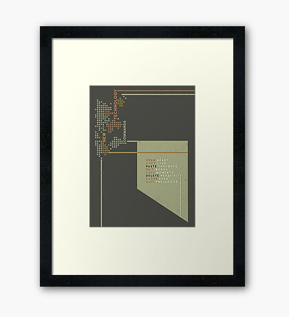 New Technology Commands Framed Print