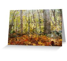 Autumnal Woods Greeting Card