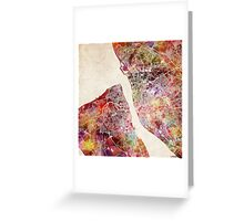 Liverpool map watercolor Greeting Card