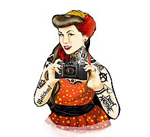 Vintage pin-up tattoo Photographic Print