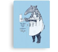 Tea time starts now - Malayan Tapir Canvas Print