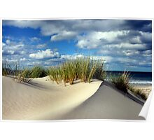 Sand dune 3 - Marion Bay Tasmania  Poster