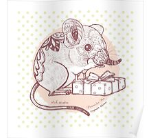 Present for You - Elephant Shrew [Pale orange] Poster