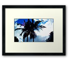 Blue, Hot and Cloudy Framed Print