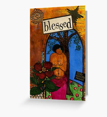 Blessed With Child Greeting Card
