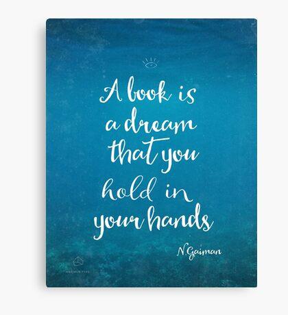 Neil Gaiman quote underwater Canvas Print