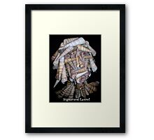 Shell Bust Framed Print
