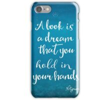 Neil Gaiman quote underwater iPhone Case/Skin
