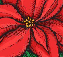 Poinsettia. Christmas decor flower Sticker