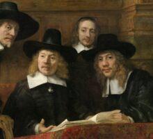 The Sampling Officials by Rembrandt van Rijn 1662 Sticker