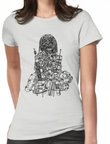 Monster in the city Womens Fitted T-Shirt