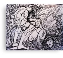 wip # 3 interpretation of Masquerade Canvas Print