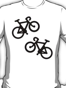 Black Multiple Bikes Pattern T-Shirt