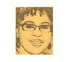 "Self-Portrait Sketch - The Artist ""alw"" Art Print"
