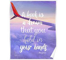 Neil Gaiman quote flight Poster