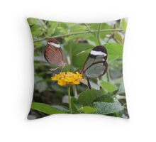 Two By Two Flutterby Throw Pillow