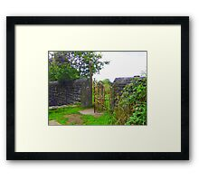Rusty Old Gate  Framed Print