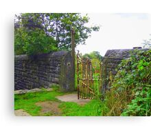 Rusty Old Gate  Canvas Print