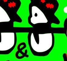 Merry X-Mas snowman vector art Sticker
