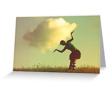 hold the cloud Greeting Card