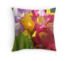 Burgunden Freesias Throw Pillow