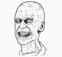 Creepy Zombie Head by maniacreations