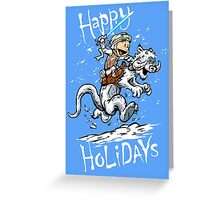 Calvin and Hoth - Holiday card Greeting Card