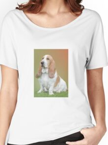 A Beautiful Basset Hound Women's Relaxed Fit T-Shirt