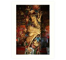 Gold Phoenix, Mythical Creature, Kuching, Sarawak Art Print